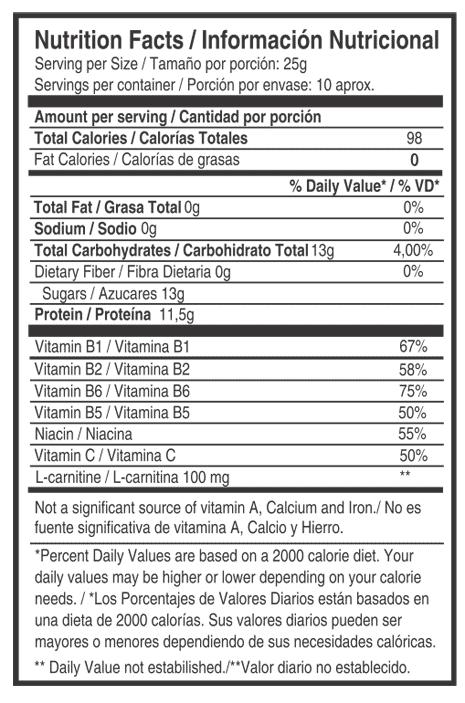 tabla nutricional e-boomerang - nutritec